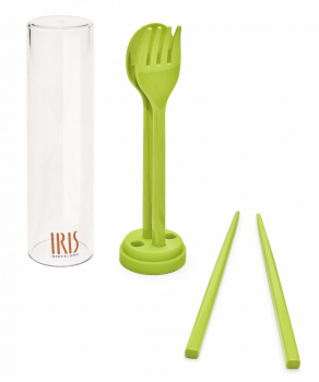 Cuttlery Set plastic with chocpsticks fork spoon and box
