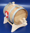 "toasted Barrel in french oak wood 0.7 Litre ""Marketender / Dog"" (Engraving possible)"