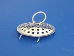 Sink strainer with spring