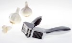 Garlic press double function slice and crush