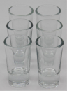 6 x shot glasses 25 ml
