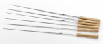6 x Barbecue skewers XXL with wooden handle