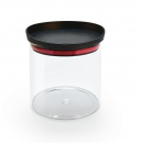 Stockable borosilicate Glass pot with lid airtight