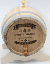 Barrel with wax-film in oak wood 1+2+3+5+10 Litre (Engraving possible)