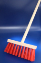 children street broom with handle RED