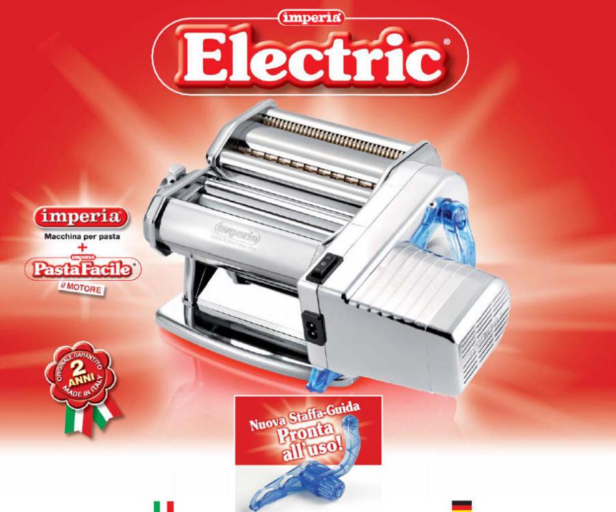 ipasta electric elektrische nudelmaschine imperia pasta machine pates electrique ebay. Black Bedroom Furniture Sets. Home Design Ideas