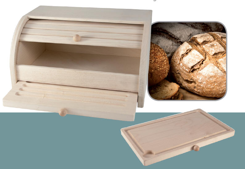 2in1 brotkasten brot kasten br tchen bread box holz schneidbrett wood board cut ebay. Black Bedroom Furniture Sets. Home Design Ideas