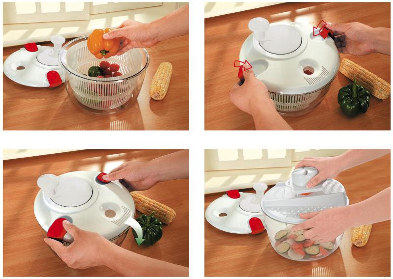 3in1 salatmacher set salatschleuder reibe hobel schneider salad maker salade neu ebay. Black Bedroom Furniture Sets. Home Design Ideas