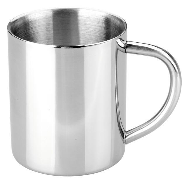 edelstahl henkel becher henkelbecher tasse mug gobelet. Black Bedroom Furniture Sets. Home Design Ideas