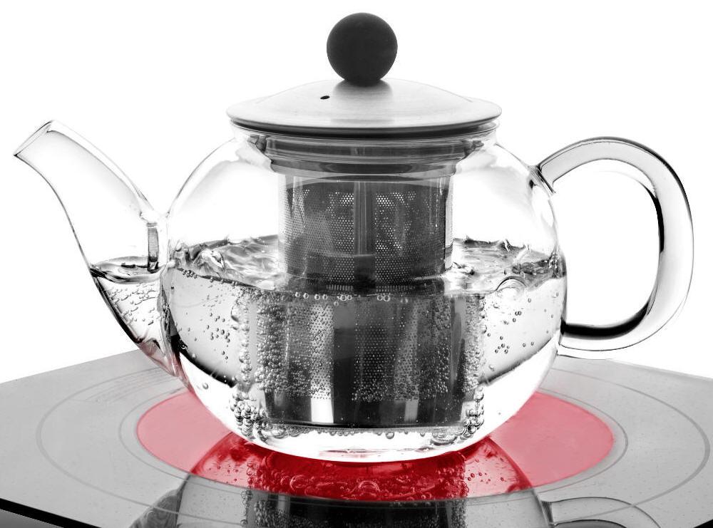 teekanne aus glas 600 ml tetera de cristal agua glass teapot with filter theiere ebay. Black Bedroom Furniture Sets. Home Design Ideas